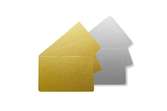 Edikio Guest tarjeta dorada y plateada