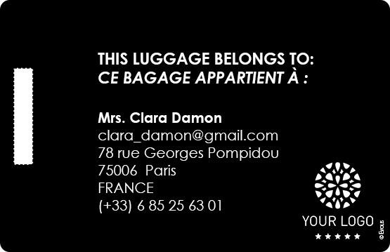 Edikio Guest tarjeta equipaje